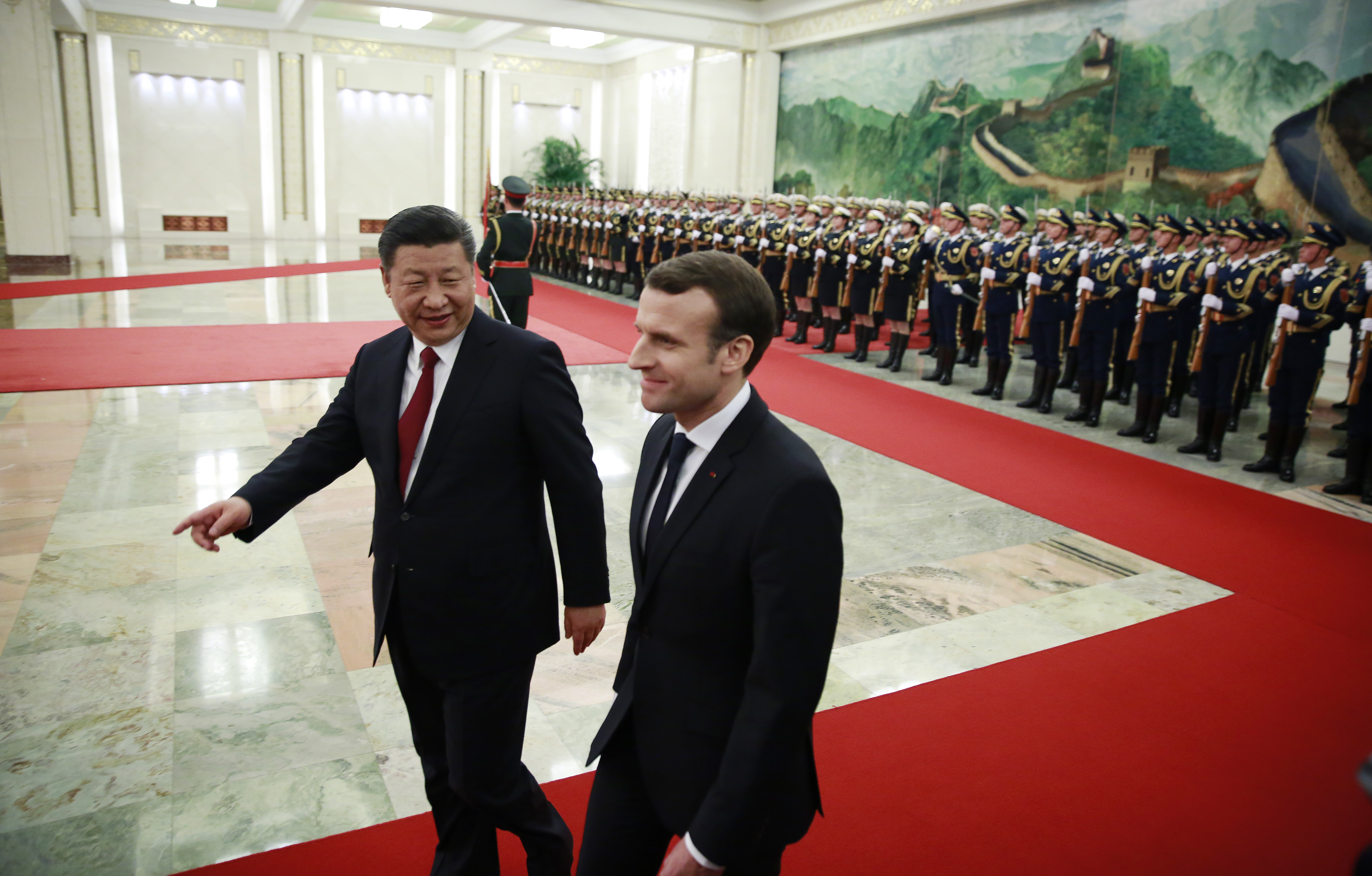 French President Emmanuel Macron visits China